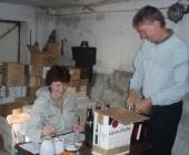 tříděním, odzáklopkováváním a značením více než 600 lahví.