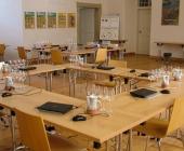 Sál Národního vinařského centra ve Valticích připraven