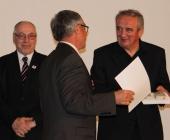 Prof. Fedor Malík a Lubomír Bárta předali diplom za nejlepší kolekci vín Patria Kobylí